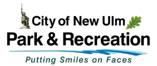 City of New Ulm Park and Recreation Putting Smiles on Faces logo