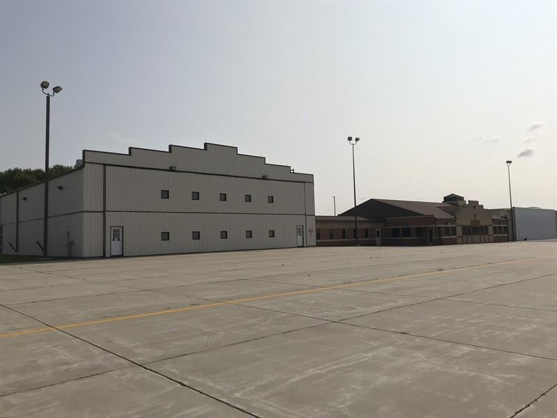 Exterior view of the Fixed Base Operator Maintenance Hangar and Terminal